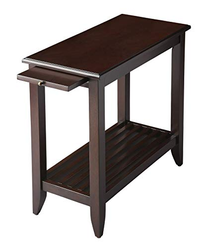 Bradenham Chairside Table - Merlot Finish - Accent Table - Side Table (Merlot Finish Chairside Table)