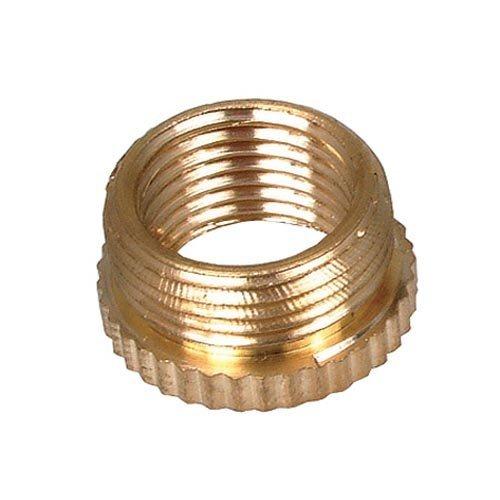 Lamp Holder Reducer Bush 1/2 x 10 mm, Brass (Pack of 1) by Bulk Hardware (Reducer Bush)