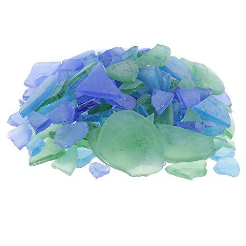 Bowl Glass Frosted Mosaic (MagiDeal Bulk 500g DIY Crafts Sea Glass Frosted Clear Multi use for beach wedding themes, nautical themed parties, shell crafts, decorate a wreath for any home decor project - mixed)