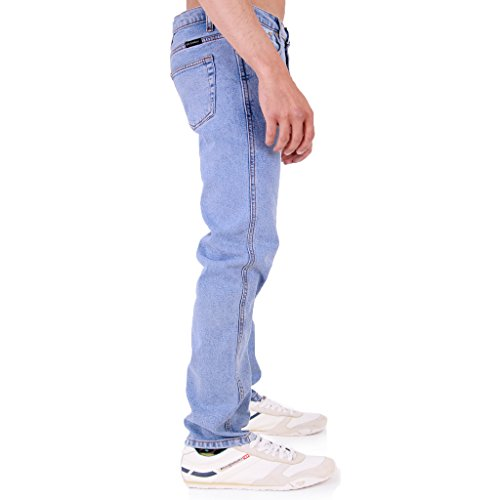 Super Basics Herren Skinny Jeanshose blau Light wash 30 Lange