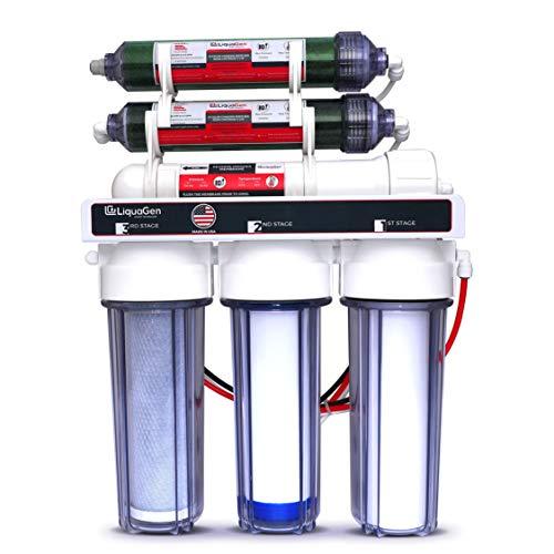 LiquaGen - 6-Stage Reverse Osmosis + Deionization Water Filtration System   0 TDS - 100 GPD from LiquaGen