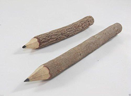 2 Pcs. Wooden pencil twig Tamarind sticks natural handmade length 13 cm DIY Gift Photo #2