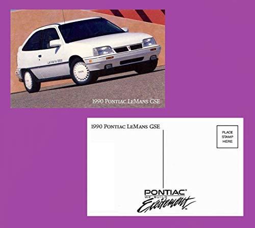 Pontiac Lemans 2 Door - 1990 PONTIAC LeMANS GSE 2-DOOR Sedan COLOR POST CARD - FACTORY ORIGINAL NOS - USA - NEVER MAILED - EXCELLENT !!