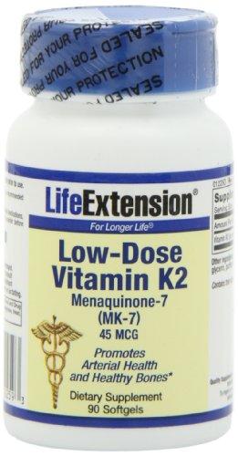 Продления жизни Низкие дозы витамина K2, Softgels, 90-Count