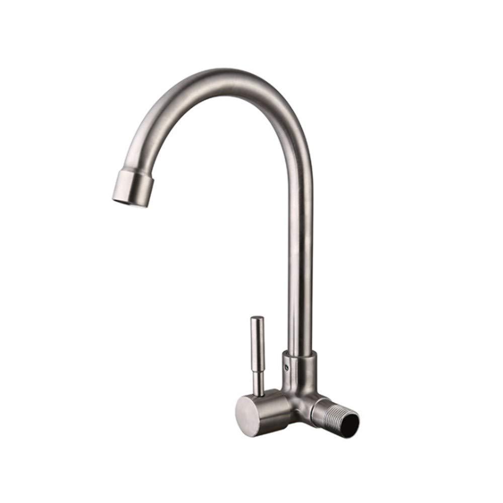 Wasserhahn Einhand Wasserhähne Küche Edelstahl-Wandhahn Aus Edelstahl 304 Für Einfach Gekühlte Haushalts-Multifunktionsspülbecken