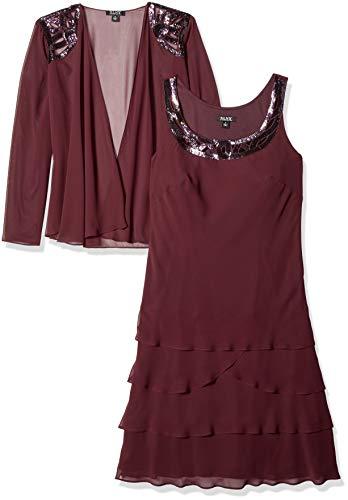 s Embellished Tiered Jacket Dress (Petite and Regular), Fig 12 ()