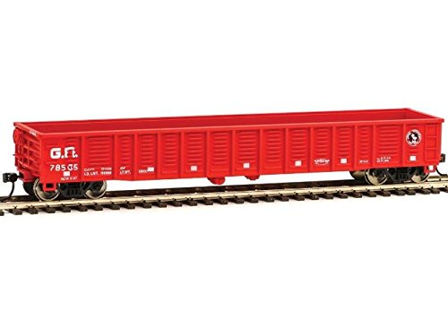 53' Corrugated-Side Gondola - Ready To Run -- Great Northern #78480 (red, Small Rocky Silhouette) ()