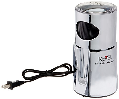 Revel CCM101CH 110-volt Wet and Dry Coffee/Spice Grinder, Chrome (Best Wet And Dry Spice Grinder)