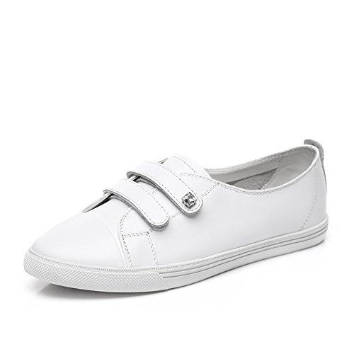 Zapatitos blancos/Zapatos planos/Joker blanco zapatos y ocio A