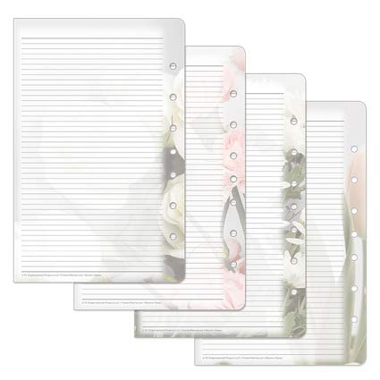 Classic Blooms Lined Pages - Pink/Green (Franklin Covey Green)
