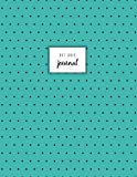 Dot Grid Journal: Aqua and Black Polka Dot, Ghost Grid Journal, Large, 110 Pages.