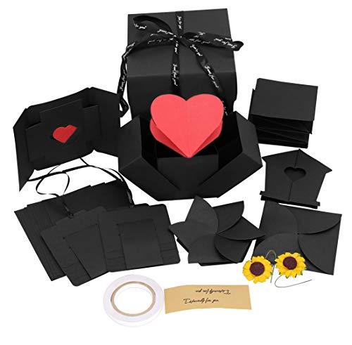Creative Explosion Gift Box, DIY Handmade Photo Album Scrapbooking for Party Surprise, Birthday, Valentines Day, Anniversary, Wedding,Thanksgiving Day