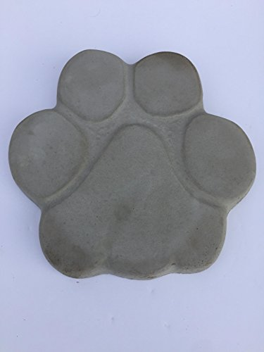 Dog Memorial Pet Stepping Stone Handmade in USA made of cast stone concrete great for indoor or outdoor 4 finishes stained or unpainted (unpainted) (Cast Stone Dog)