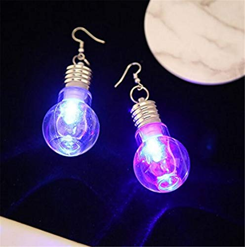 LOSOUL Bulb Earrings Glow in the Dark Womens