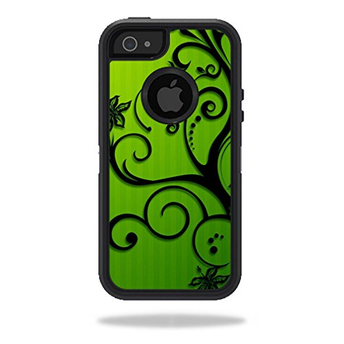 Mightyskins Protective Vinyl Skin Decal Cover for OtterBox Defender iPhone 5/5s/SE Case wrap sticker skins Floral Flourish