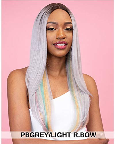 Janet Collection Human Hair Blend Color Me 6 inch Deep Center Part DAILY Lace Front Wig (SUGAR BROWN)