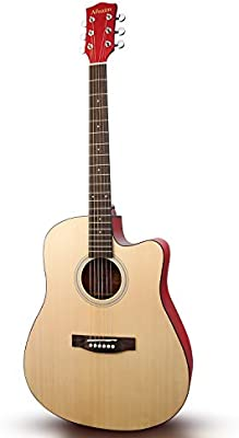 Venta de liquidación Afuaim Guitarra acústica de 41 pulgadas (Cutaway, Natural): Amazon.es: Instrumentos musicales