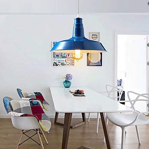 FidgetGear 26/36cm Industrial Loft Pendant Light Chandelier Lid-Shape Aluminum Ceiling Lamp White 36cm by FidgetGear (Image #7)