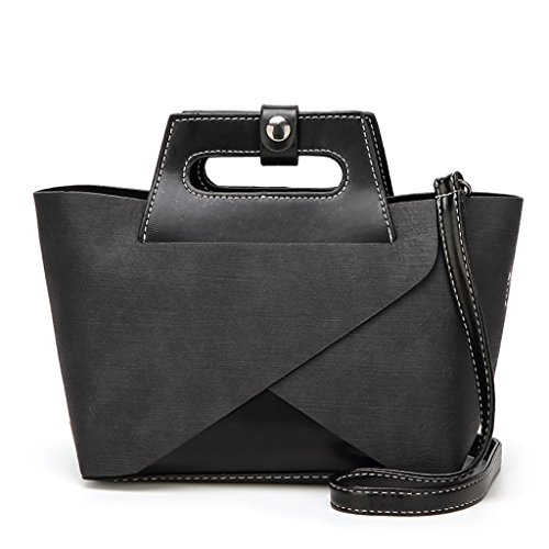 High Bags Piece Bag Capacity Shoulder Bag Handbag Bag Black QJAIQQ Women's Fashion Brown Messenger Tote Two Lady RCqEzw6