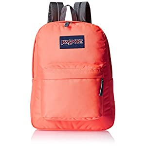 JanSport Superbreak Backpack- Discontinued Colors (Tahitian Orange)