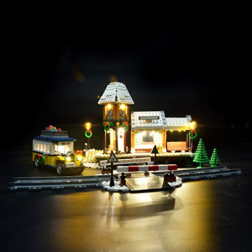 (Briksmax Led Lighting Kit for Winter Village Station - Compatible with Lego 10259 Building Blocks Model- Not Include The Lego Set)