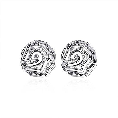 Rose Silver Earrings Simple Stud Earrings Ladies Of Fashion Earrings