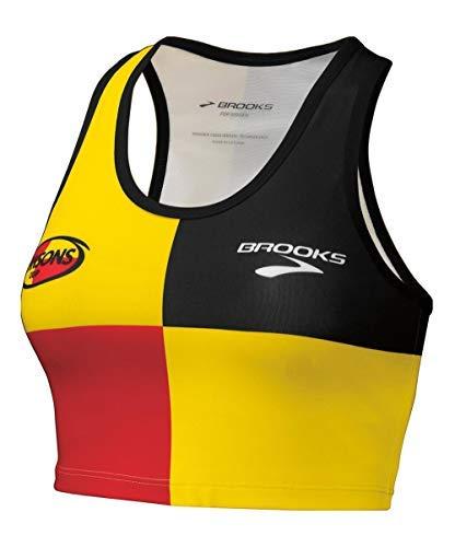 Brooks Hansons Original Distance Project Short Support Tank Yellow Black Red Colorblock (Medium)
