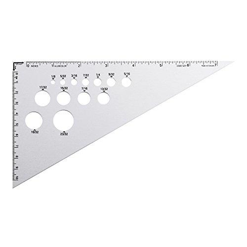 Alumicolor 30-60-90-Degree Drafting Triangle, Alumnium, 8 inches, Silver (5271-1)