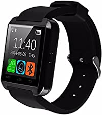 Micromax Canvas XL A119 COMPATIBLE Smart Android U8 Bracelet U Watch and Activity Wristband, Wireless Bluetooth Connectivity Pedometer Android/IOS Mobile Phone Wrist Watch Phone with activity trackers and fitness band features by VELL- TECH