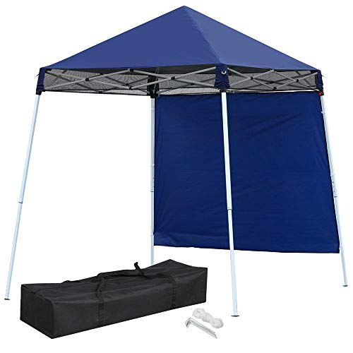 Yaheetech Outdoor Portable 8 x 8 POP UP Canopy Party Waterproof Tent for Hiking Camping Fishing Picnic Garden Yard Patio with Sidewall Carry Bag