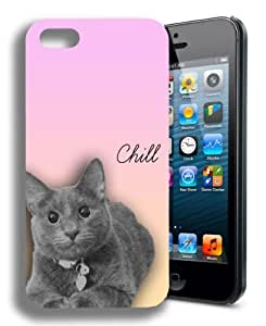 Chill Kitty Cat Funny Iphone 5c and 5c Case