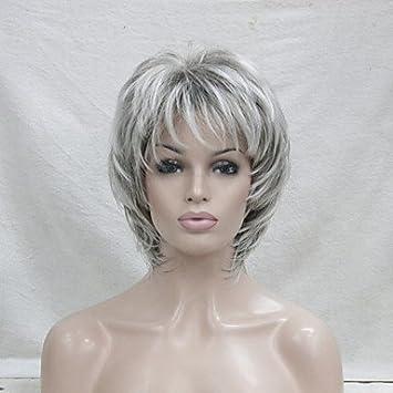 Coupes de cheveux fГ©minines courtes sur les cheveux gris