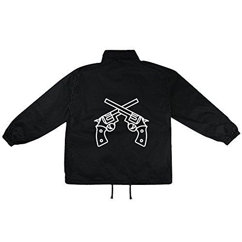 Revolver Motiv auf Windbreaker, Jacke, Regenjacke, Übergangsjacke, stylisches Modeaccessoire für HERREN, viele Sprüche und Designs