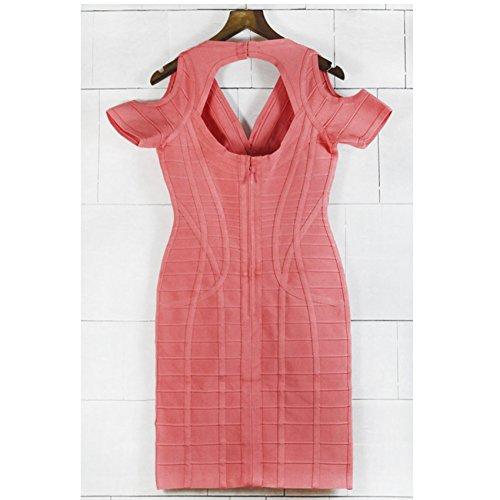 Vestido Cuello Para V Fiesta 2526 De Mujer En Con Hlbcbg Cóctel Naranja xY5BwHC4q