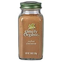 Simply Organic Ground Ceylon Cinnamon, Certified Organic, Vegan   2.08 oz   Cinnamomum...