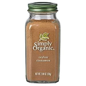 Simply Organic Ground Ceylon Cinnamon, Certified Organic, Vegan   2.08 oz   Cinnamomum verum J. Presl
