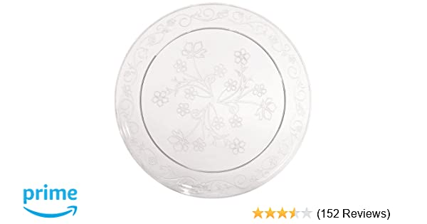 Amazon.com: Hanna K. Hard Plastic Plates China Like. Wedding ...