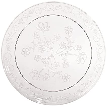 Hanna K. Hard Plastic Plates China Like. Wedding and Party Dinnerware Plastic Plates 20  sc 1 st  Amazon.com & Amazon.com: Hanna K. Hard Plastic Plates China Like. Wedding and ...