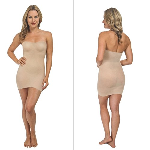 Figurformende Damen-Unterwäsche, Nahtlos- Bodyshape Unterkleid in Beige