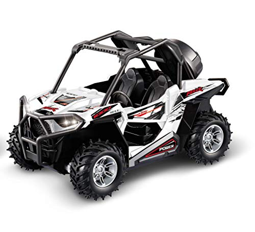Haktoys HAK136 1:14 Scale RC Racing Cross Country Side-by-Side UTV Utility Vehicle with LED Lights (Color May Vary) | Great Gift Radio Control Rechargeable Car Toy for Kids & ATV ()