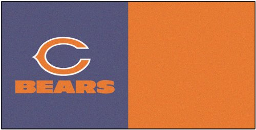 FANMATS NFL Chicago Bears Nylon Face Team Carpet Tiles by Fanmats