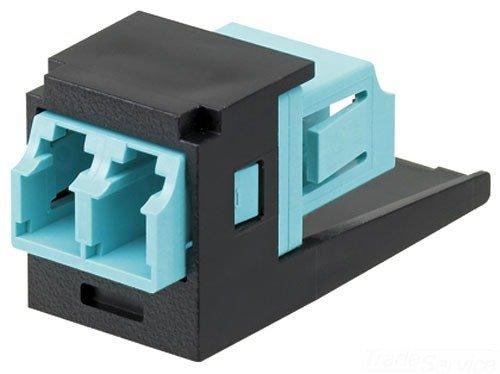 Panduit CMDSAQLCBL Multi-Mode Adapter Module with Phosphor Bronze Split Sleeve, Black