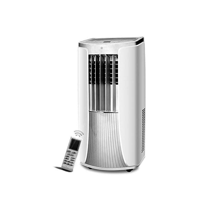 41vNadmTsGL Multifunción: aire acondicionado de enfriamiento portátil con ventilador y función de deshumidificación, incluida la manguera de escape. Función de enfriamiento: la capacidad de súper enfriamiento, con sistema de filtro de aire, puede mejorar la calidad del aire. Función de deshumidificación: se puede usar independientemente de la función de aire acondicionado, lo que le permite extraer el exceso de humedad de la atmósfera todos los días.