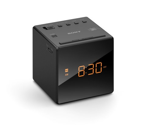 Sony ICFC1 Alarm Clock Radio, Black (Digital Clock Small Plug)