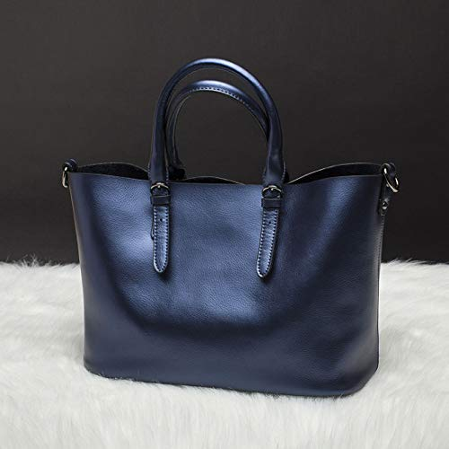 Diagonales color Cuero Compras Hombro Blue Variedad Colores Capacidad Kervinzhang Blue Casuales De Gran Portátiles Bolsos BfqACxA