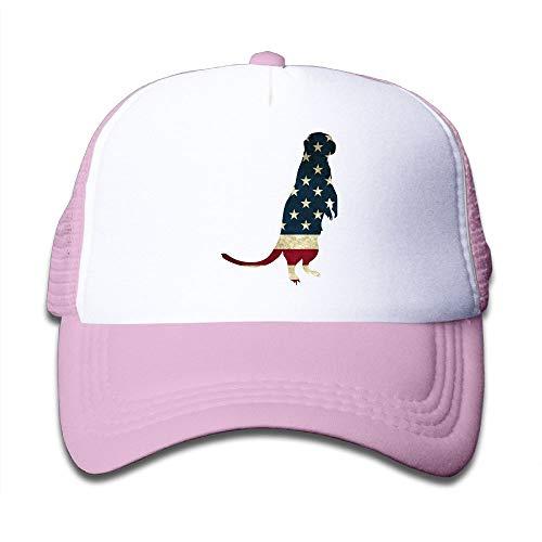 Otter Clipart Silhouette USA Flag On Kids Trucker Hat, Youth Toddler Mesh Hats Baseball (Free Clipart Silhouette)