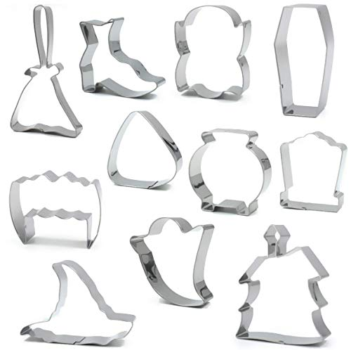 Halloween Cookie Cutter - American Confections - Vampire, Ghost, Candy Corn, Witch, Pumpkin, Haunted House - Set of -