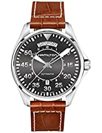 Khaki Pilot Date Auto 42mm Black Dial Mens Watch H64615585