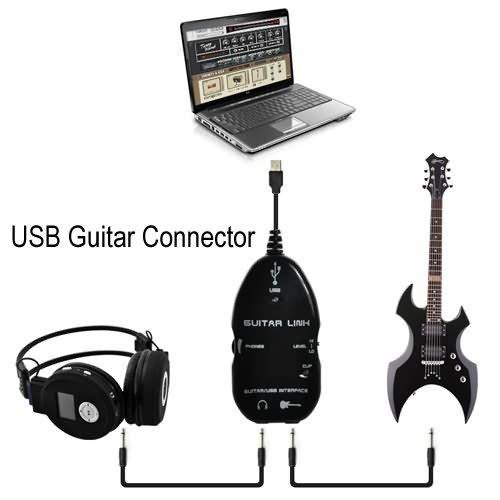 Origlam - Conector de guitarra por USB que sirve como interfaz para grabar en el ordenador/MAC los sonidos a través de la interfaz y el cable de audio: ...