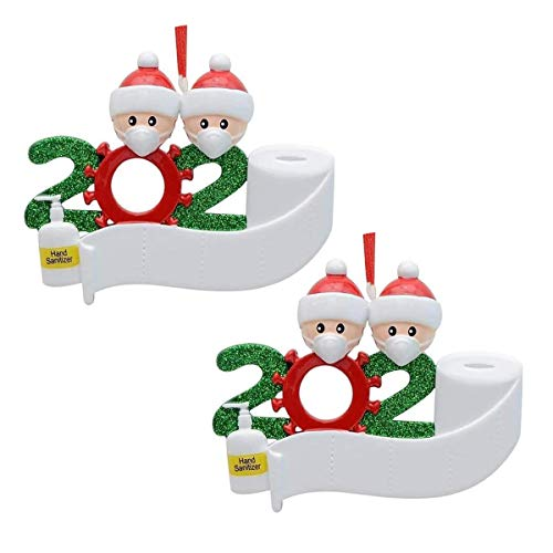 2 Pack Christmas Tree Ornaments – Santa Christmas Tree Pendant Decorations – Xmas Tree Faceless Santa Claus with Mask…
